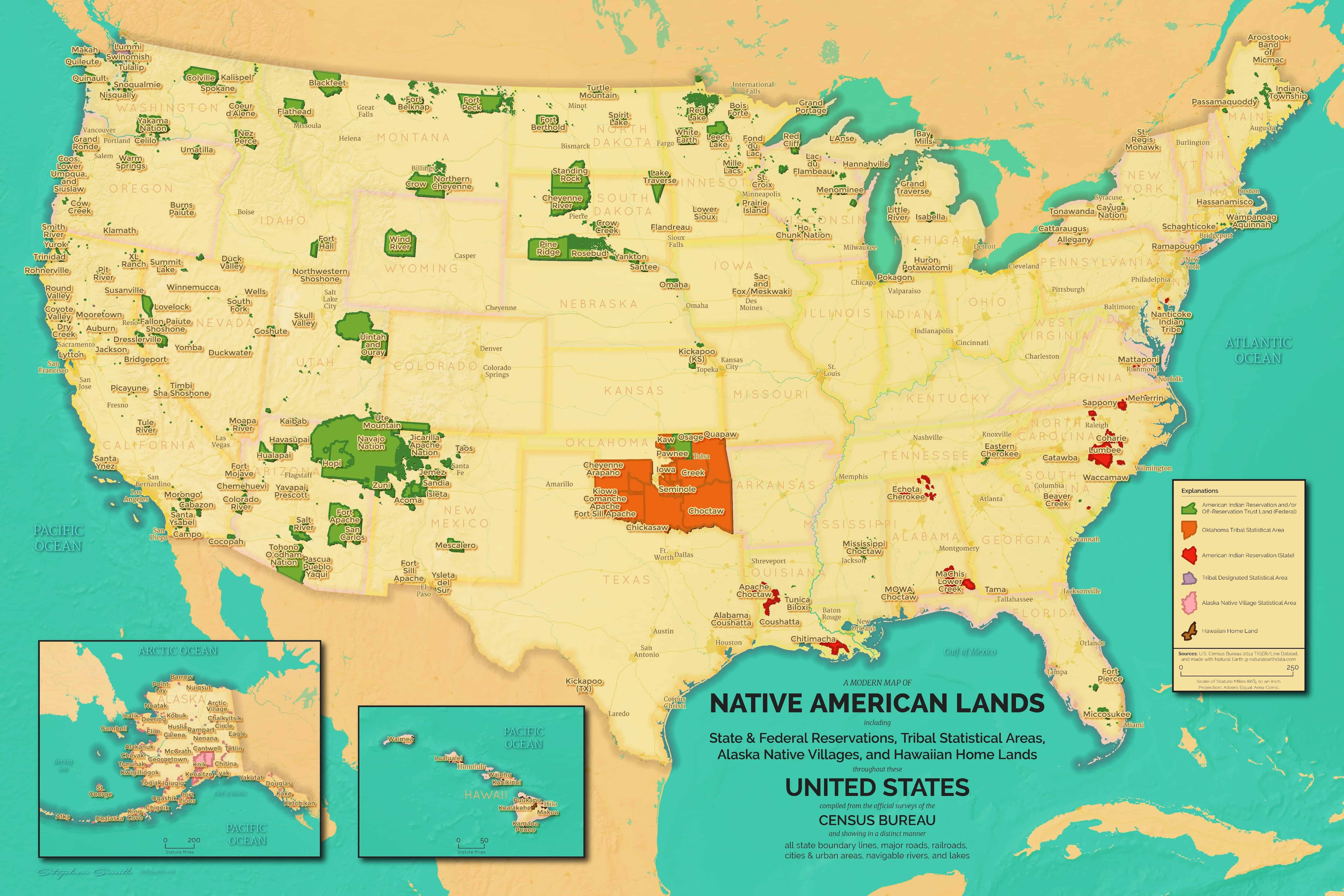 Map Of New York Indian Reservations.Mapsmitha Modern Map Of Native American Lands Mapsmith